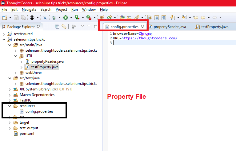 config.properties file