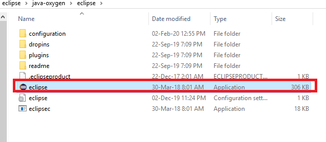 Eclipse exe File
