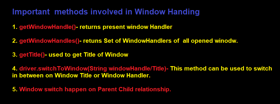 Selenium Window Handling Methods