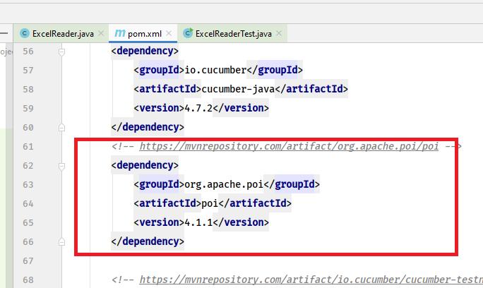 POM.XML File with Apache POI depedency