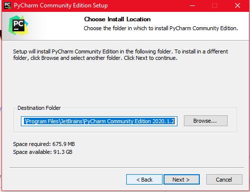 PyCharm install location