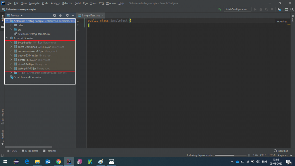 Selenium with TestNG project structure